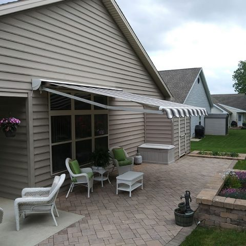 American Awnings & Replacement Windows Awnings Project 016